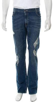 Michael Kors Tailored Fit Distressed Jeans w/ Tags