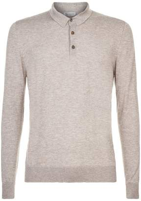 Johnstons of Elgin Cashmere Silk Polo Shirt