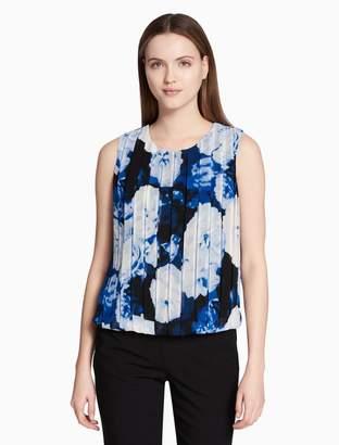 Calvin Klein floral bubble front sleeveless top