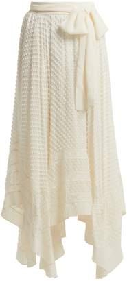 Zimmermann Unbridled silk-georgette handkerchief-hem skirt
