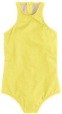 J.CrewHigh-neck zip-back one-piece swimsuit in Italian matte