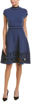 Fendi Mock Wool-Blend Sweaterdress