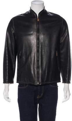 Hermes Lambskin Zip-Up Jacket
