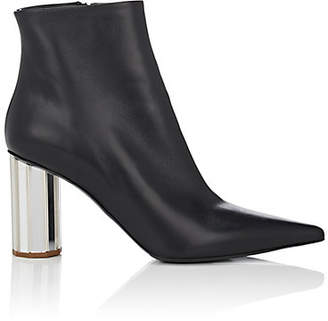 Proenza Schouler Women's Mirrored-Heel Leather Ankle Boots - Black