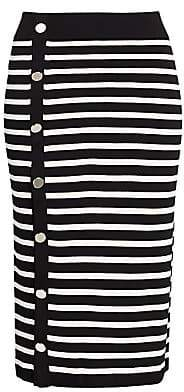 Altuzarra Women's Striped Button-Up Skirt