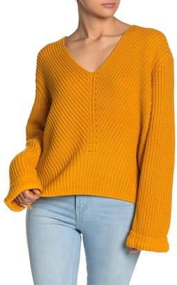 Line & Dot Micha V-Neck Knit Sweater