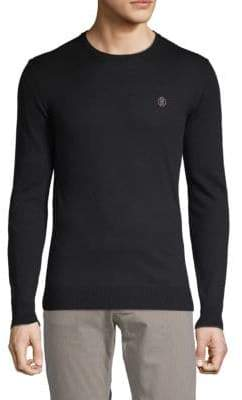 Roberto Cavalli Logo Embroidered Crew Sweater