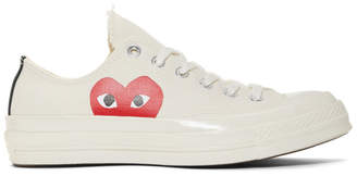 Comme des Garcons Off-White Converse Edition Half Heart Chuck 70 Sneakers