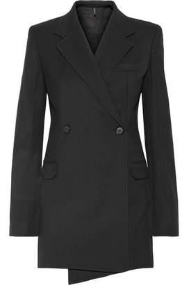 Wool-blend Twill Blazer - Black