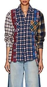Needles Women's 7 Cuts Plaid Cotton Flannel Shirt