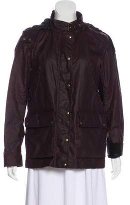 Belstaff Hooded Zip-Up Jacket