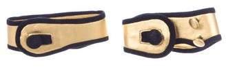 Prada Velvet & Metallic Ankle Cuffs