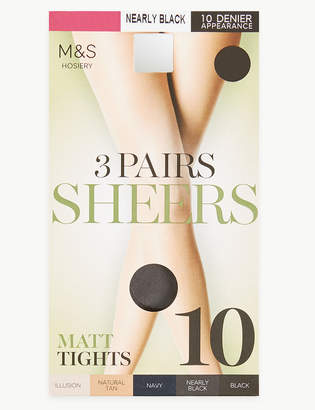 2a9d5990a5 M&S CollectionMarks and Spencer 3 Pair Pack 10 Denier Tights