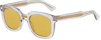 Gucci Round Transparent Acetate Sunglasses