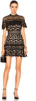 self-portrait Yoke Frill Mini Dress $475 thestylecure.com