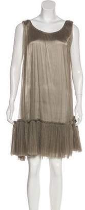 Lanvin Pleated Tulle Dress