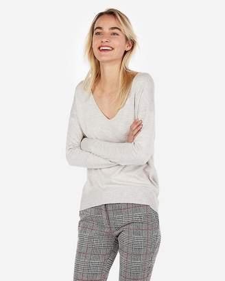 Express Slouch Back V-Neck Tunic Sweater