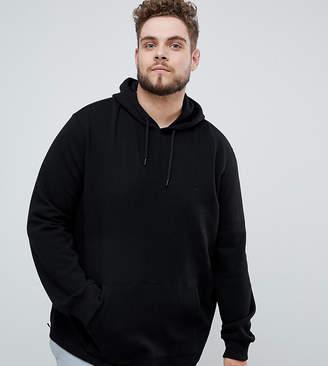 Burton Menswear Big & Tall hoodie with zip detail in black