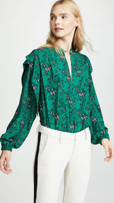 Robert Rodriguez Japanese Floral Blouse