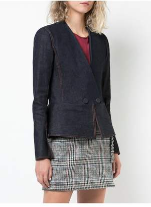ADAM by Adam Lippes Stretch Denim Twill Peplum Blazer