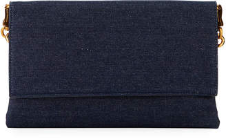 Neiman Marcus Chain-Handle Convertible Clutch Bag