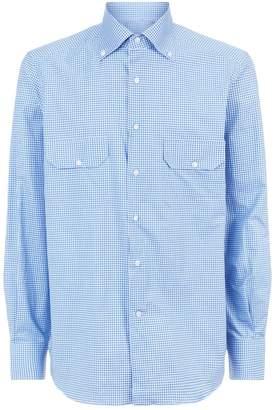 Stefano Ricci Check Long Sleeve Shirt