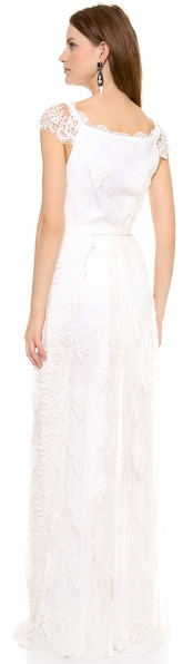 Collette Dinnigan Lace Paneled Gown