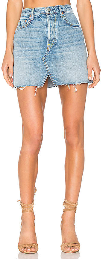 GRLFRND x REVOLVE Milla Denim Mini Skirt 5