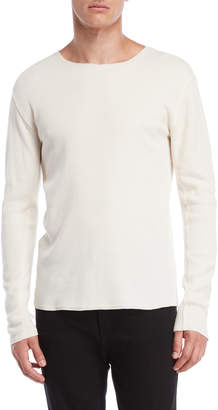 Vince Solid Raw Edge Thermal Shirt