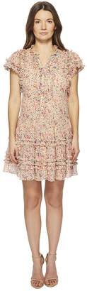 Rebecca Taylor Margo Floral Silk Cotton Voile Dress Women's Dress