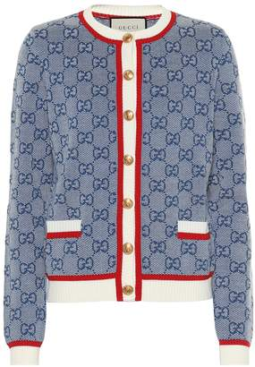 Gucci GG wool and cotton cardigan