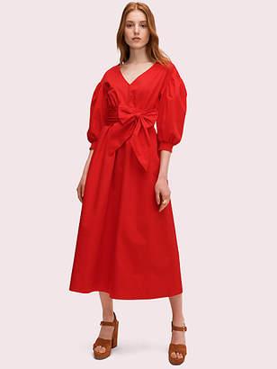 Kate Spade Belted Midi Dress, Zinnia Red - Size XS