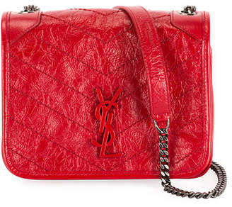 Saint Laurent Niki YS Monogram Leather Wallet on Chain