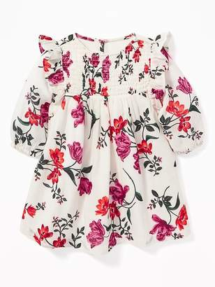 Old Navy Floral Smocked-Yoke Dress for Baby