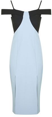 Topshop Colour block midi dress $130 thestylecure.com
