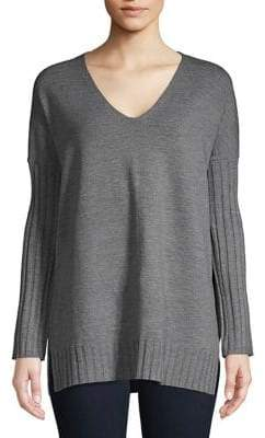 French Connection Babysoft Heathered V-Neck Sweater