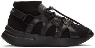 Alexander McQueen Black Knit Sock Sneakers