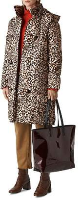 Whistles Leopard-Printed Puffer Coat