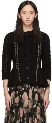 Alexander McQueen Black Knit Chain Cardigan