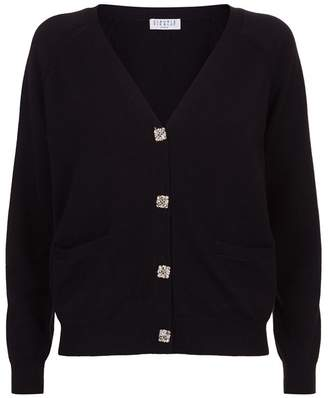 Claudie Pierlot Crystal Button Cardigan