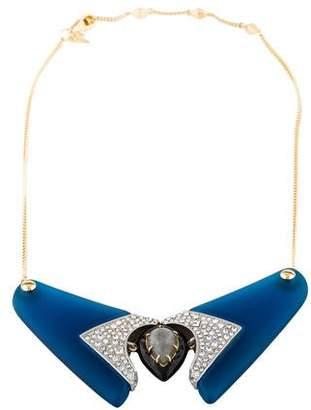 Alexis Bittar Labradorite, Lucite & Crystal Bib Necklace