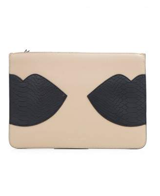 KENDALL + KYLIE Kendall & Kylie Veronica Double Lips Clutch Bag