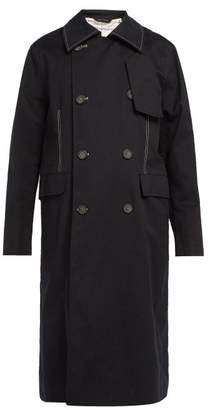 Acne Studios Double Breasted Cotton Trench Coat - Mens - Black
