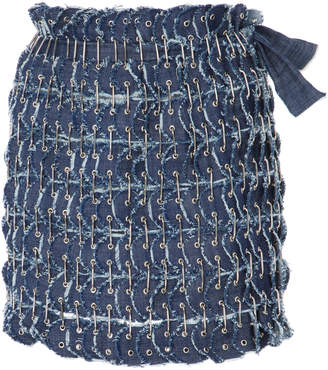 Fannie Schiavoni Denim Skirt