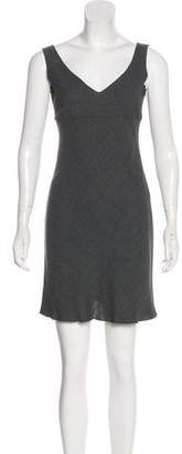 Miu Miu V-Neck Wool Dress