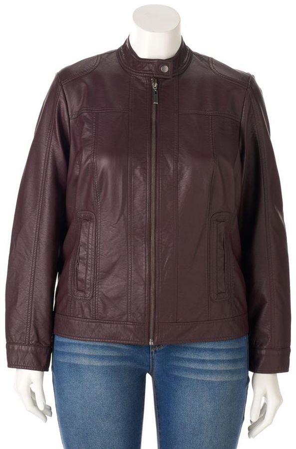 Apt. 9 Plus Size Apt. 9 ̈ Faux-Leather Moto Jacket