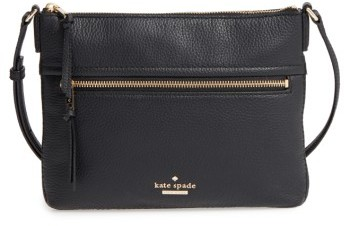 Kate Spade Kate Spade New York Jackson Street - Gabriele Leather Crossbody Bag - Black