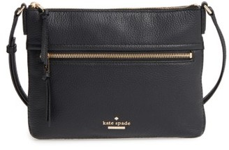 Kate Spade New York Jackson Street - Gabriele Leather Crossbody Bag - Black $178 thestylecure.com