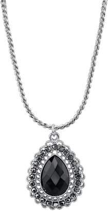 1928 Scalloped Openwork Teardrop Necklace