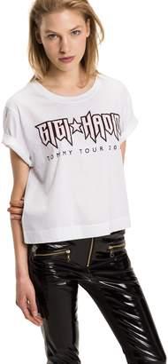 Tommy Hilfiger Gigi Hadid Rock Logo Crop Tee